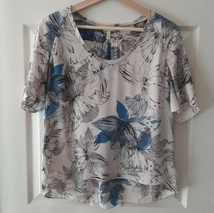 Rebecca Taylor Tahitian Floral Silk Blouse Size 4